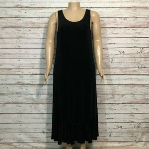 Chico's Travelers Black Tank Jumper Midi Dress XL